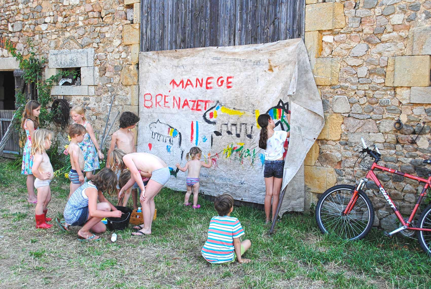 activiteiten voor kinderen, schilderen met Ron