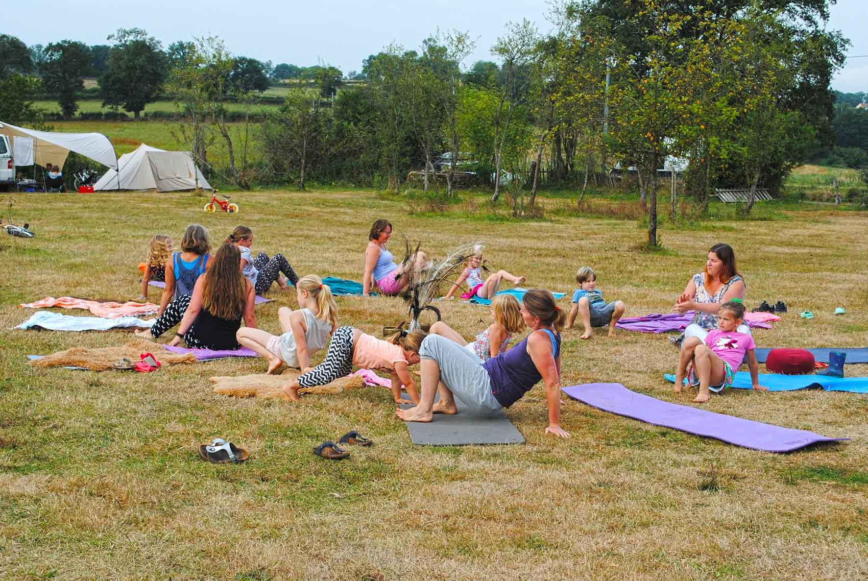 Activiteiten, yoga, ontspannen met de hele familie