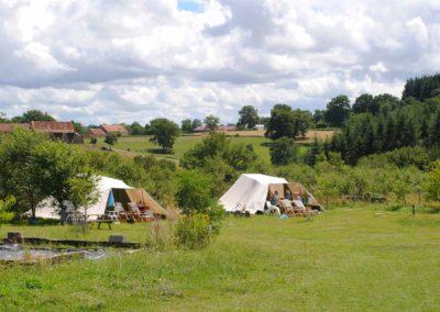 ingerichte tent-kleinschalige camping Brénazet