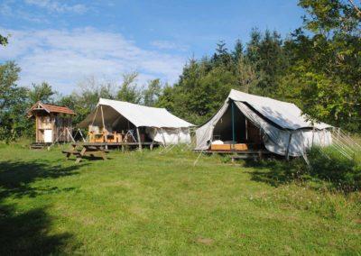 Camping Brénazet, safaritenten met eigen sanitair
