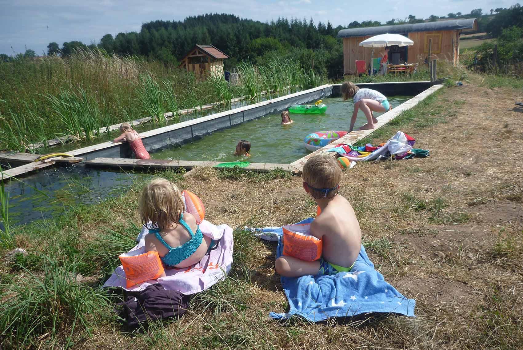 kleinschalige camping - Brénazet - zwemvijver