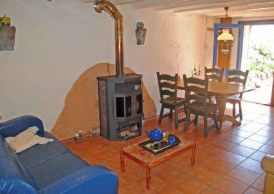 Vakantiehuis Four à pain, huiskamer, grote ronde tent, yurt, camping Brénazet, Allier, Auvergne