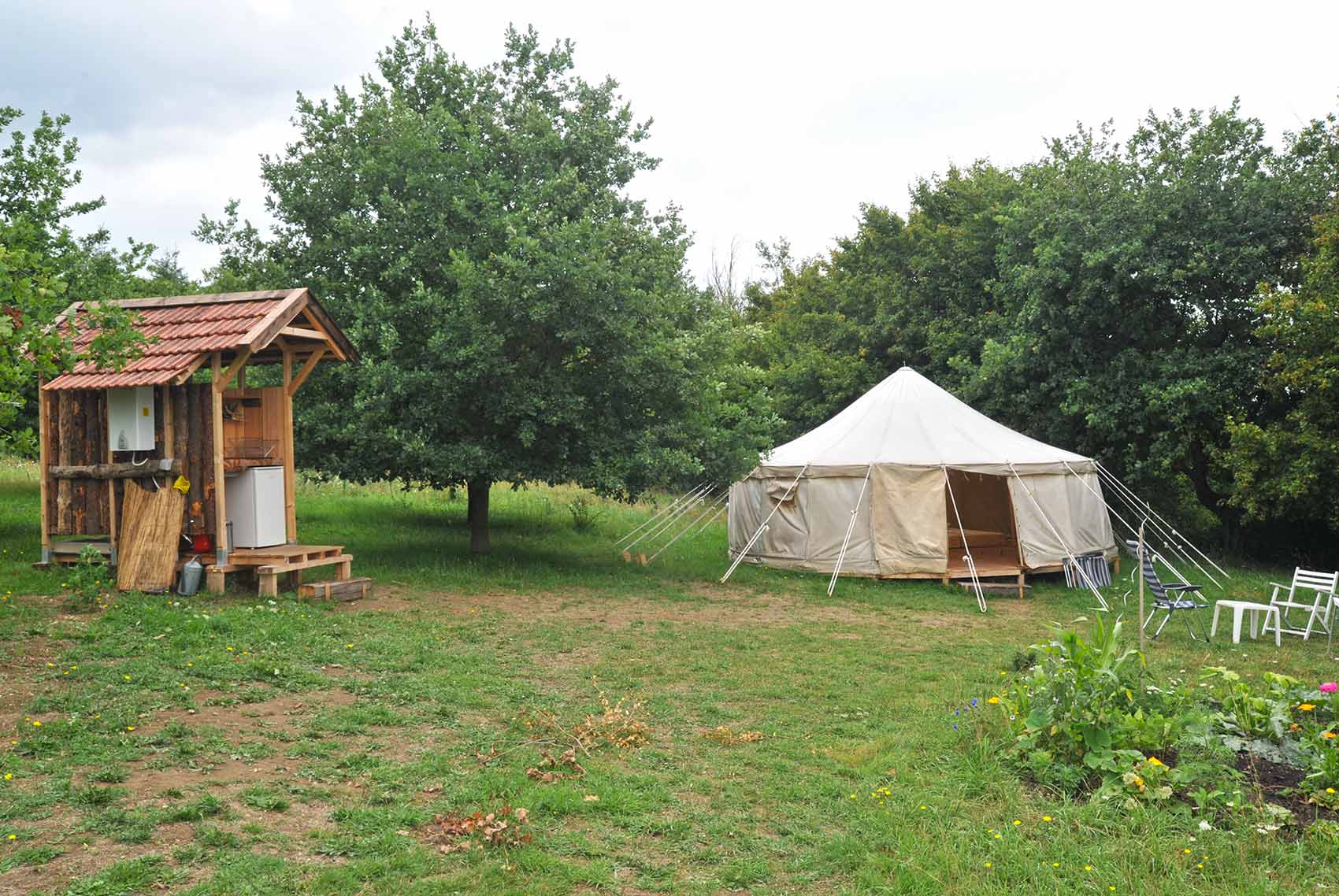 Camping grote ronde tent Brenazet