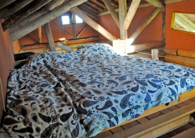 Vakantiehuis Blokhut, tweepersoonsbed, boven