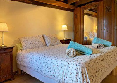 Slaapkamer vakantiehuis Bellevue, Brénazet, Allier Frankrijk