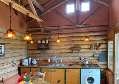 Keuken vakantiehuis Blokhut,  Brénazet, Allier Frankrijk