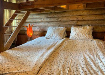 Slaapkamer vakantiehuis Blokhut, Brénazet, Allier Frankrijk