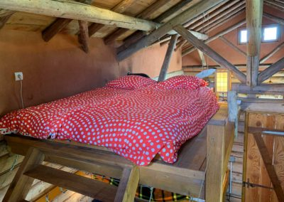 Slaapzolder vakantiehuis Blokhut, Brénazet, Allier Frankrijk