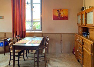 Eethoek vakantiehuis La Source, Brénazet, Allier, Frankrijk