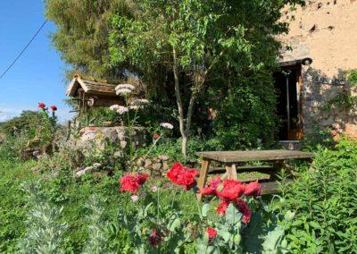 Tuin vakantiehuis La Source, Brénazet, Allier Frankrijk